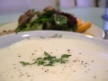 Avgolemono Soup and Grilled Chicken and Mango Salad.jpg