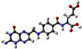 Ball-and-stick model of folic acid.png